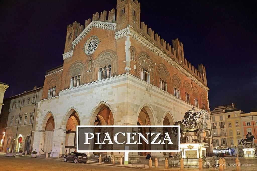 Guía turística de Piacenza. Ruta por la Emilia Romagna