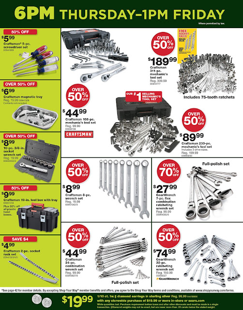 Sears Black Friday 2016 tools ad