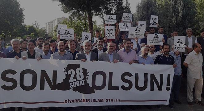 Diyarbakır'da 28 Şubat ve FETO yargısı mağdurları için kitlesel basın açıklaması