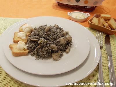 arroz negro con sepia y chirlas