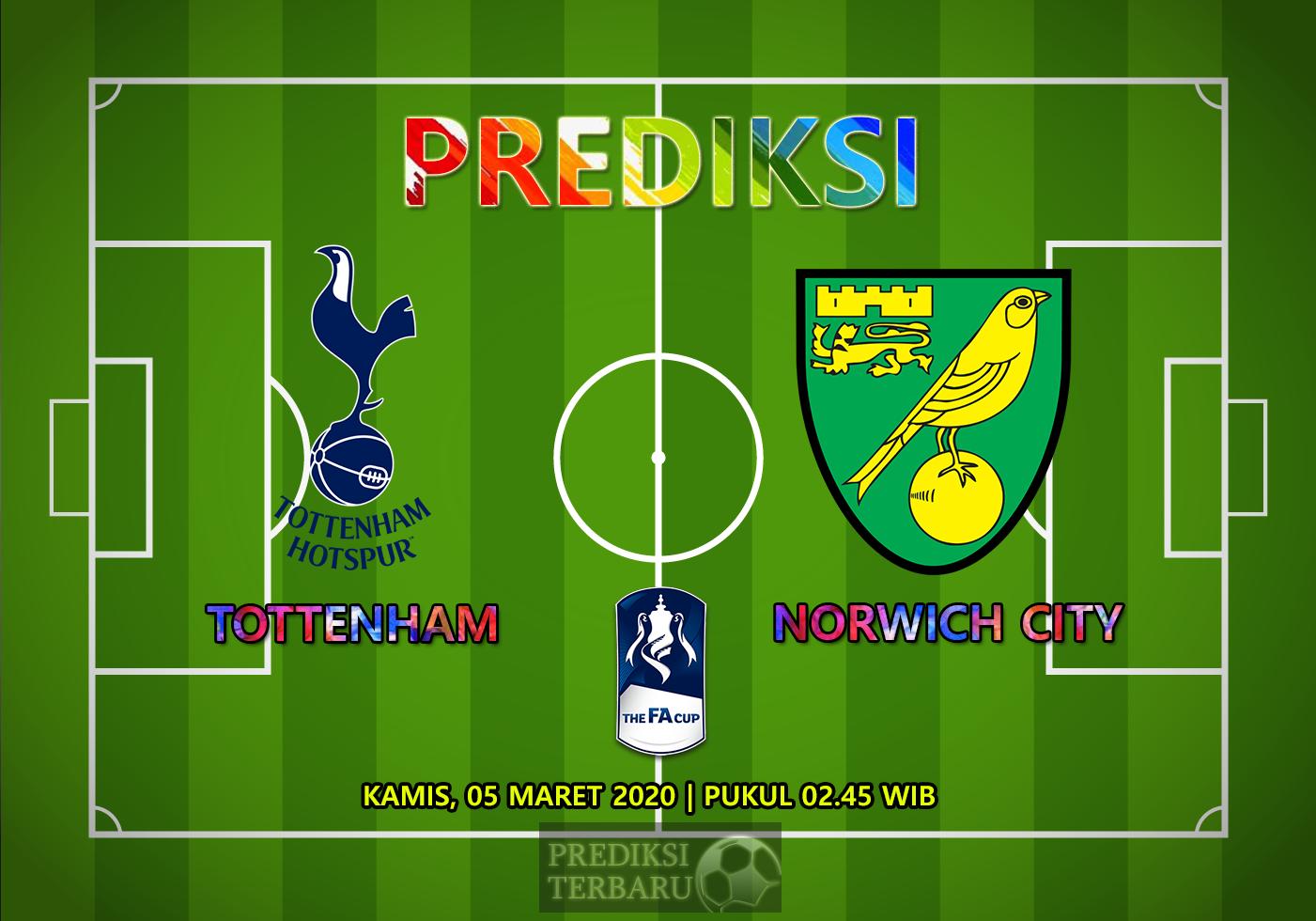 Prediksi Tottenham Hotspur Vs Norwich City Kamis 05 Maret
