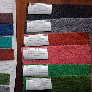 100 boiled wool fabric