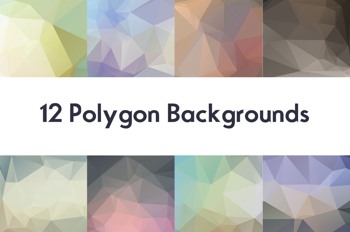 12 Polygon Backgrounds