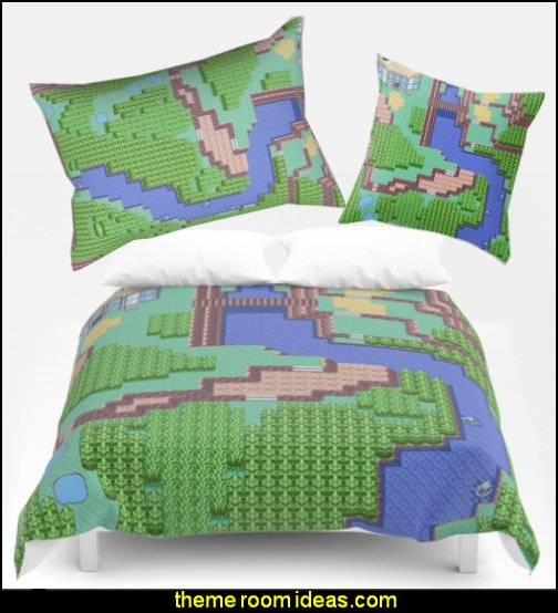 Gamers Have Hearts bedding  Gamer bedroom - Video game room decor - gamer bedroom furniture - gamer wall decal stickers - Super Mario Brothers Wall Stickers - gamer bedding