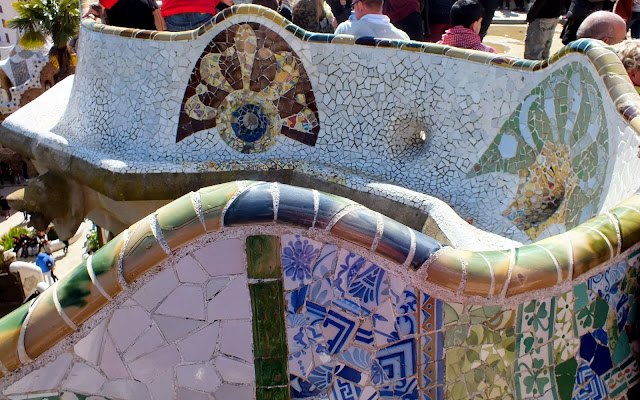 detalles decorativos Parque Güell en Barcelona