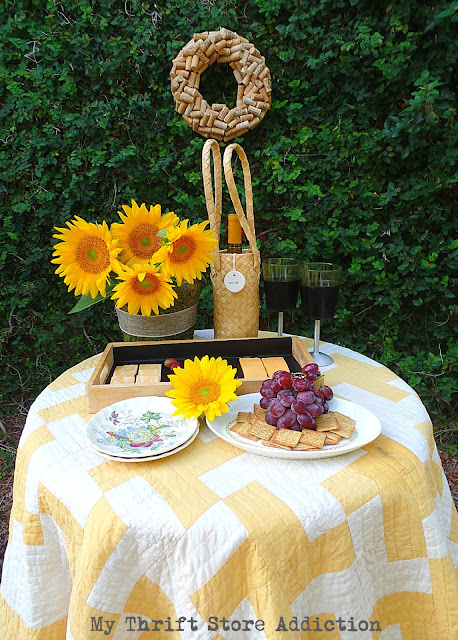 Wine and cheese in the garden fall tours