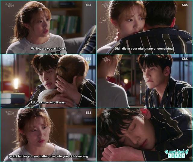 ji wook hug bong hee when he become scared in the dream - Suspicious Partner: Episode 17 & 18 korean Drama