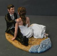 statuine personalizzate matrimonio sposini in riva al mare orme magiche