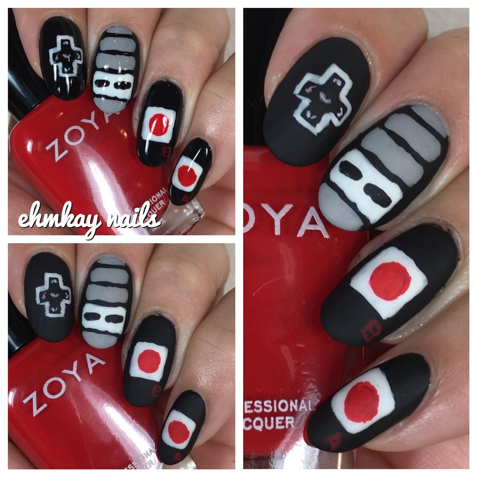 ehmkay nails: 80s Nail Art: Original Nintendo Controller Nail Art