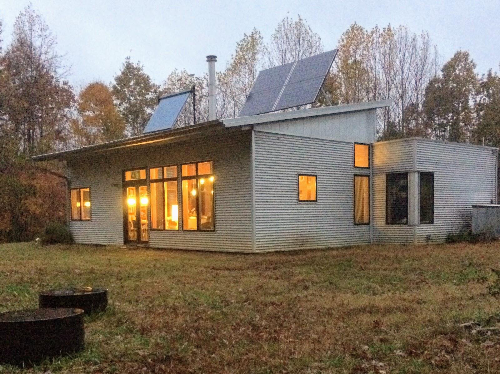 Modern Off Grid Prefab Passive Solar House On Rainwater