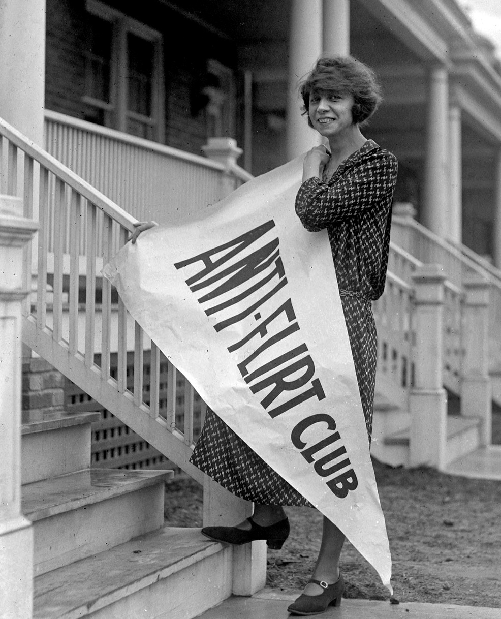 40 Amazing Historical Pictures - Miss Alice Reighly, President of the Anti Flirt Club Washington DC c.1923
