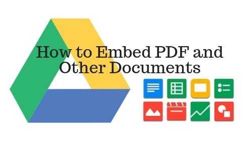 Embed PDF and Other Documents