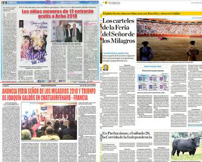 2018 julio paginas taurinas diarios peru