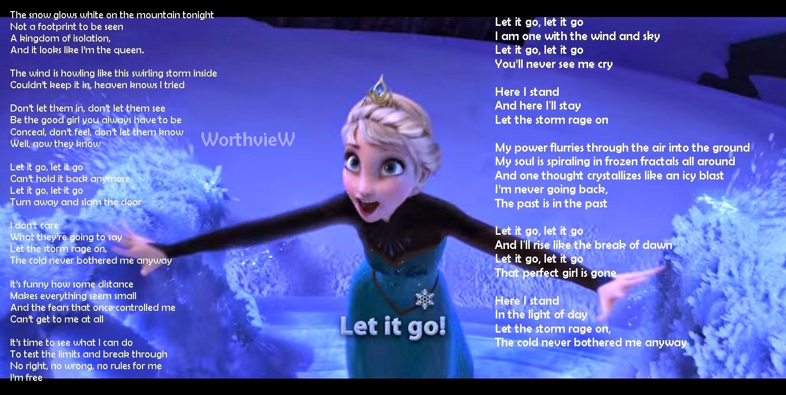 Let it go lyrics disney sheet music.