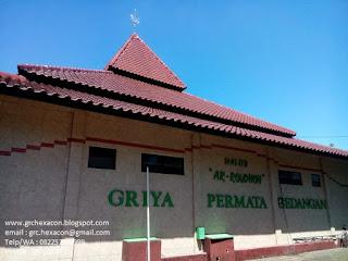 tulisan di bangunan masjid Ar Roudhoh Griya Permata Gedangan Sidoarjo
