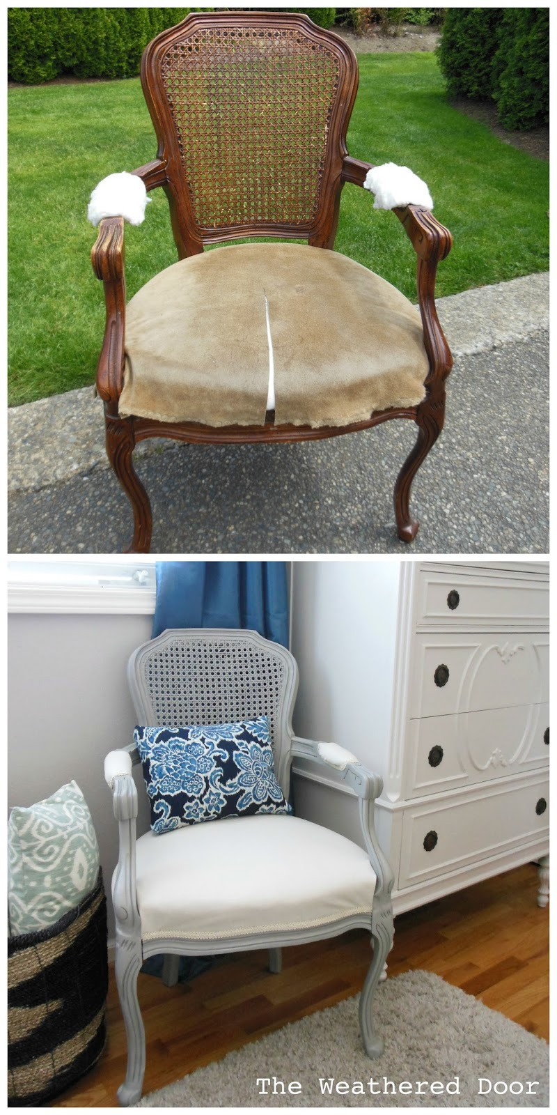 where to get chairs reupholstered lc1 sling chair how upholstering a french the weathered door