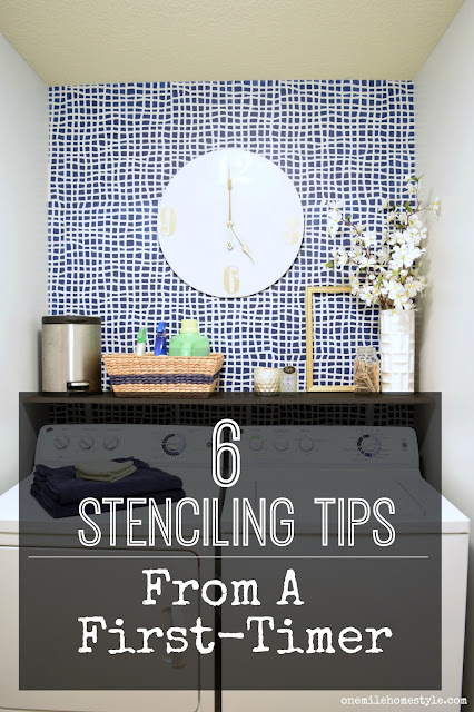 Must read before you begin a stenciling project! 6 tips for wall stenciling from a first-timer.