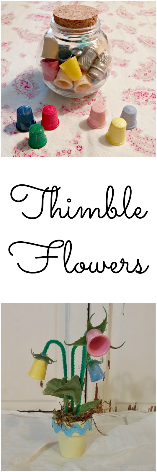How to make DIY thimble flowers