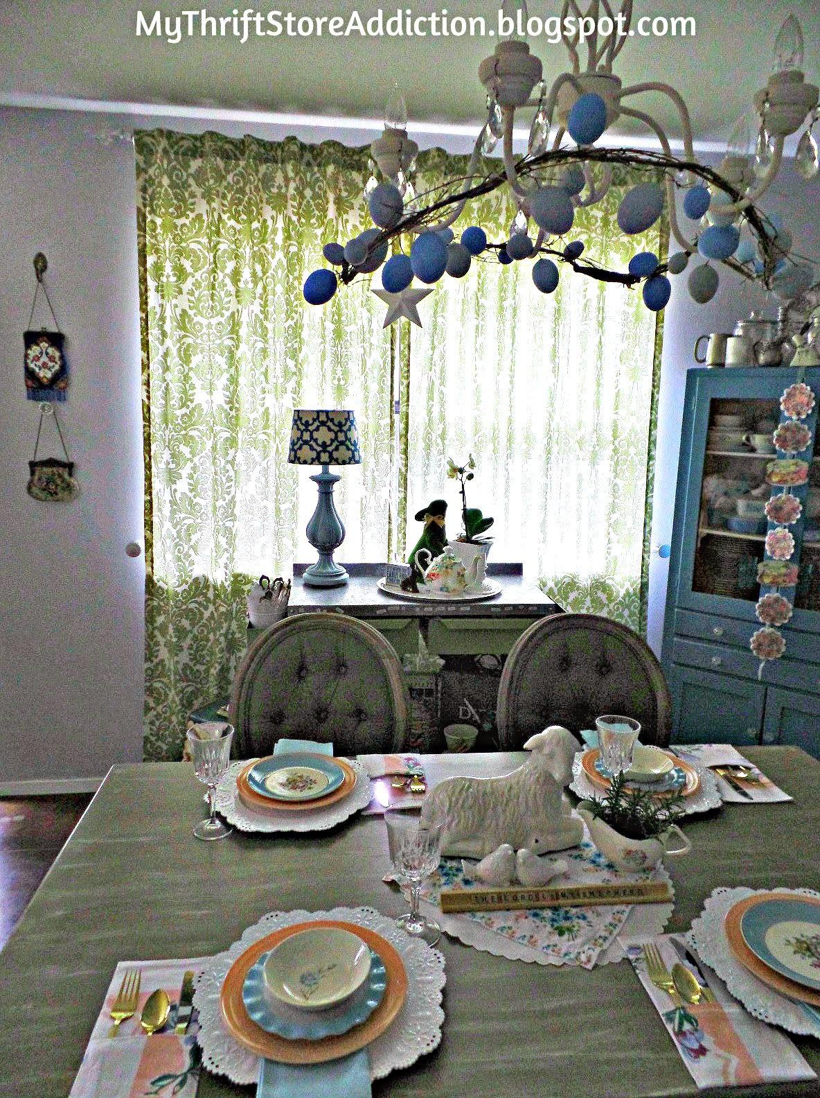 Spring pastels tablescape