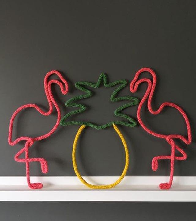 tricô de flamingo entrega nacional