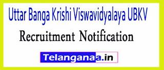 Uttar Banga Krishi Viswavidyalaya UBKV Recruitment Notification 2017