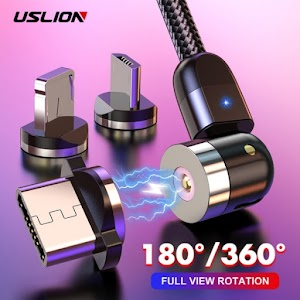 New 360º+180º Rotation Fast Charging Magnetic USB Cable