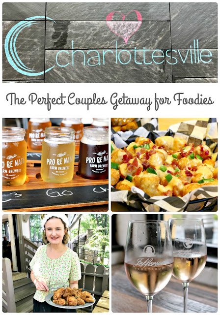 Breweries, wineries, & a growing local food scene in the picturesque foothills of the Blue Ridge Mountains makes the historical city of Charlottesville, VA the perfect destination for a foodie couples getaway.
