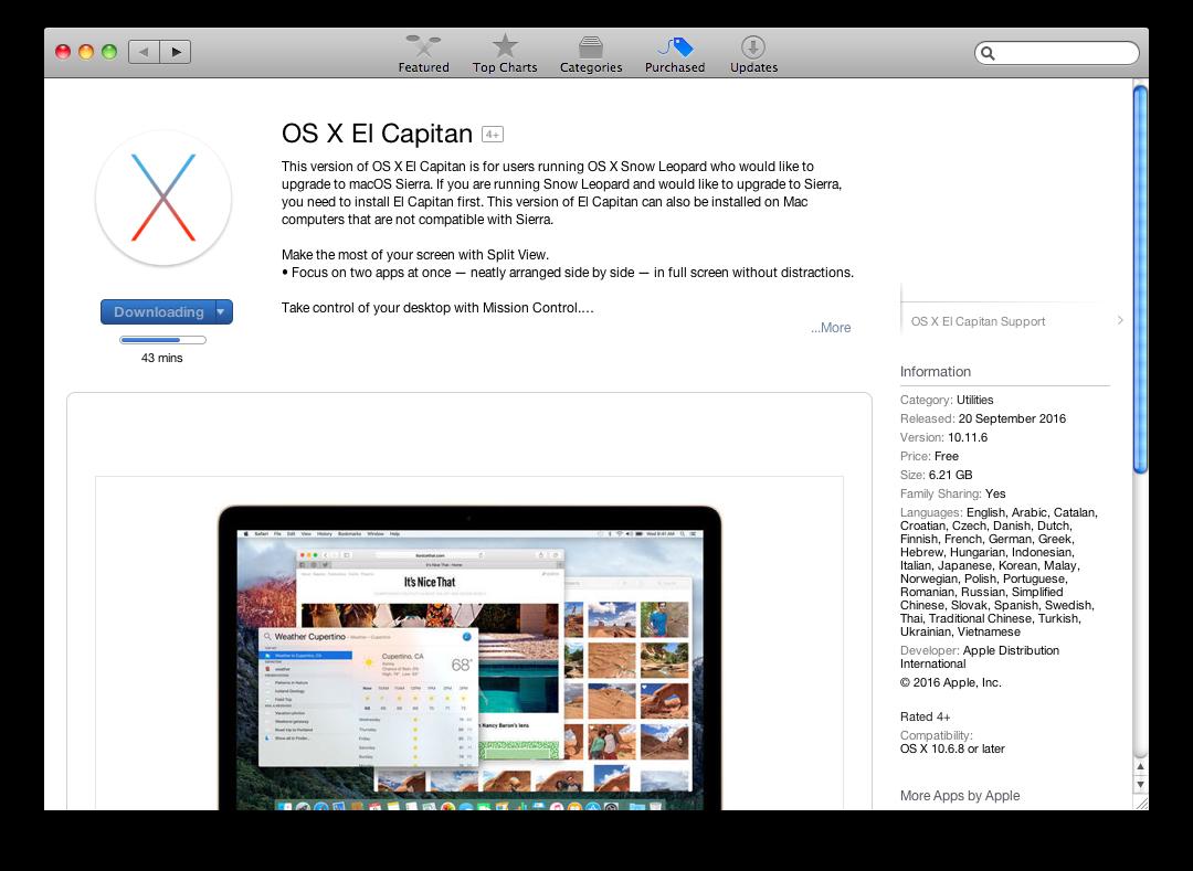 download el capitan 10 11 6