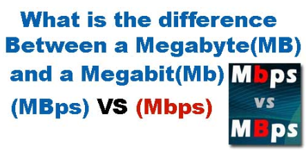 What is difference between Megabit per second and Mega Byte per second | Compare MBps vs Mbps Full Detail