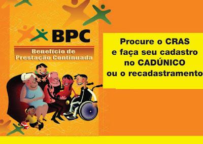 Manter os dados atualizados no CadÚnico é critério para continuar a receber o BPC