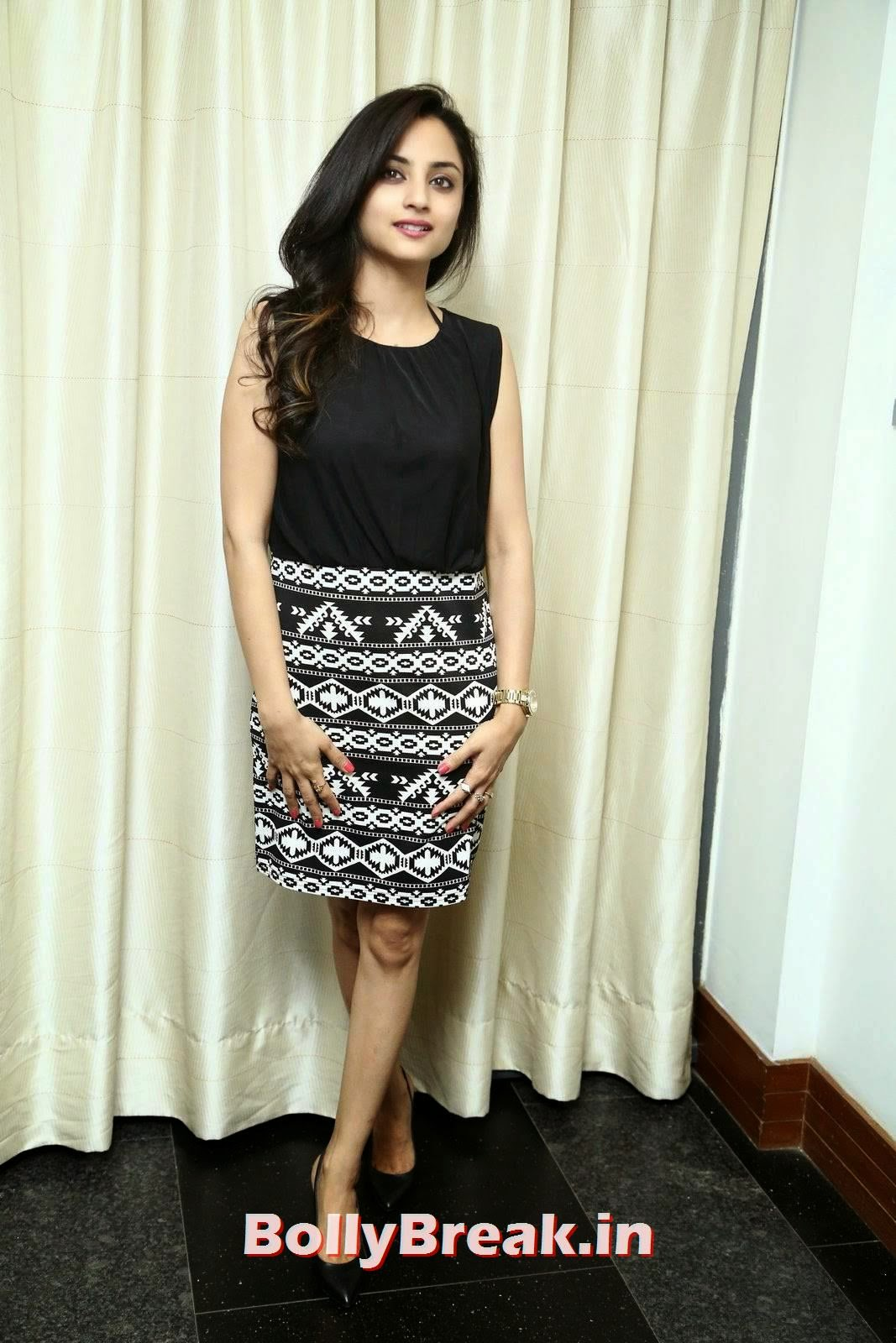 , Actress Madirakshi Hot Pics in Skirt & Black Top