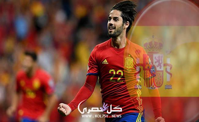 ملخص نتيجة مباراة اسبانيا واسرائيل اليوم تنتهي بفوز اسبانيا 1-0 في تصفيات كأس العالم 2018