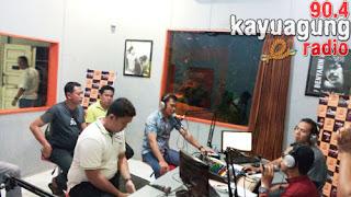 Kapolres OKI Talkshow Interaktif Bersama Masyarakat OKI di 90,4 Kayuagung Radio
