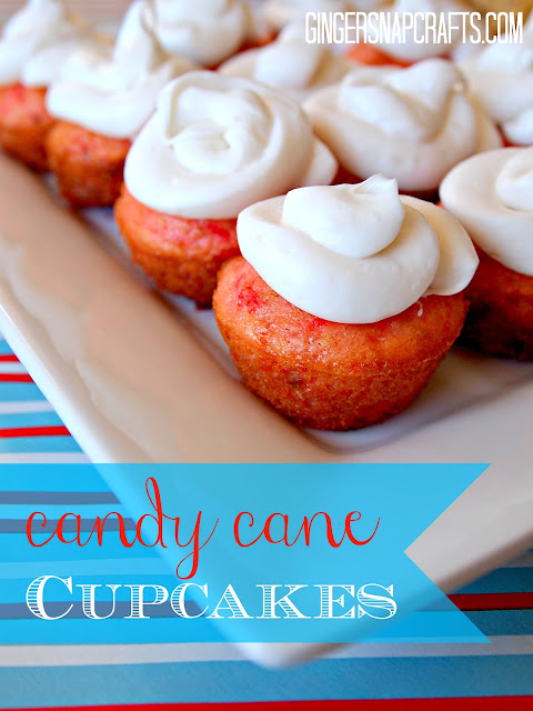 Candy Cane Cupcakes!! Delicious peppermint taste with yummy frosting!