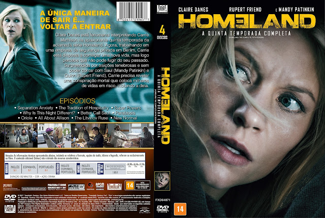 Capa DVD Homeland Quinta Temporada [Exclusiva]