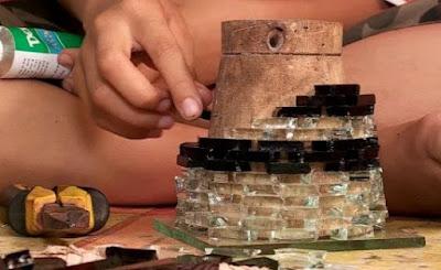 cara mudah membuat lampuhias dari bahan bekas
