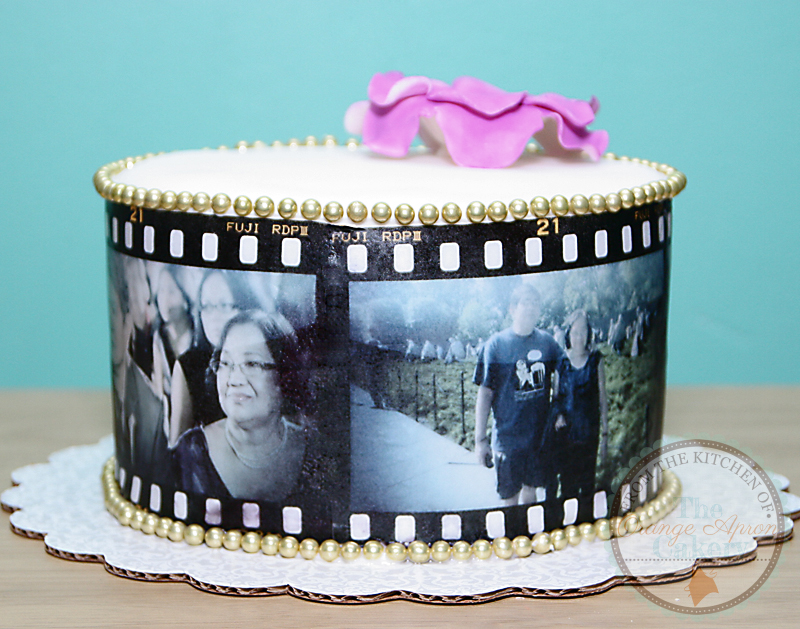 The Orange Apron Cakery Film Strip Wedding Anniversary Cake