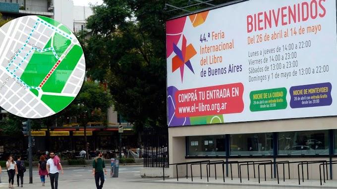 Cortes de tránsito y desvíos por la inauguración de la Feria del Libro