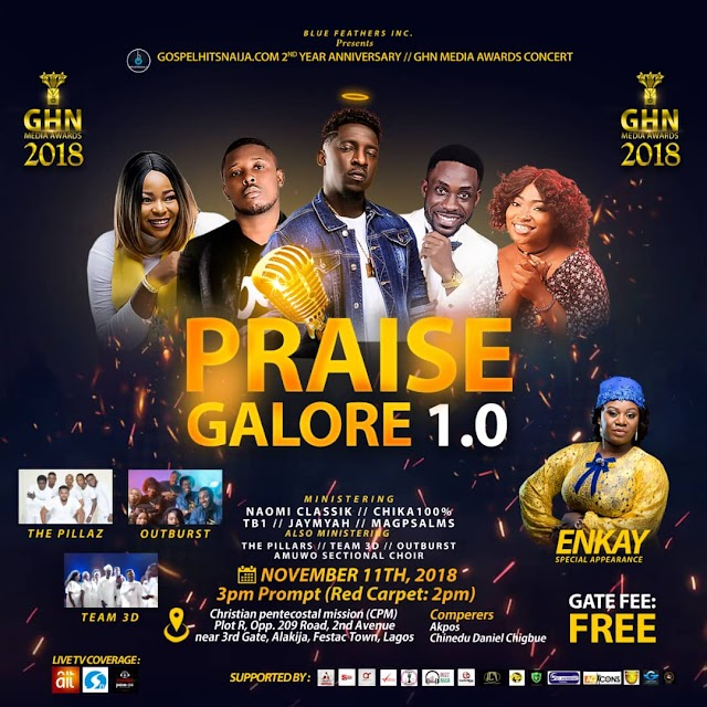 [EVENT] Blue Feathers Inc. To Host GospelHitsNaija's 2nd Year Anniversary/GHN Media Awards Concert – Nov. 11th. || @GHNAwards2018 @GospelHitsNaija