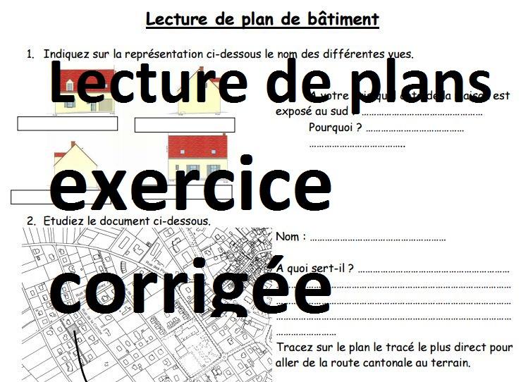 Lecture De Plans Bâtiment   Exercice Corrigé