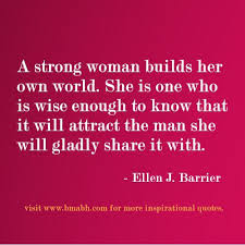 Good Morning For Her: A strong woman builds her own world.