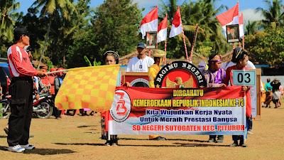Semarak Hari Ulang Tahun Republik Indonesa Ke-73, Pemerintah Kecamatan Adakan Karnaval 17 Agustus