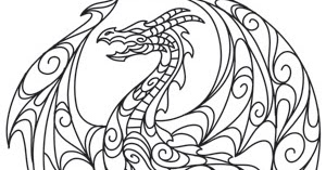 Coloring Page World: Doodle Dragon
