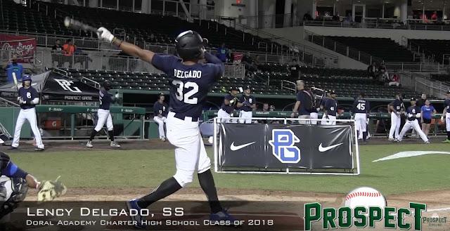 Lency Delgado exhibe una línea ofensiva fabulosa con la escuadra del preuniversitario Doral Academy: .480/.564/.949 con 13 cuadrangulares en y 33 impulsadas en apenas 98 turnos