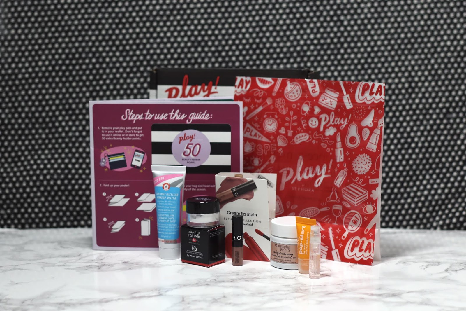 Beauty Blogger, College Blogger, Sephora Play Box Review, Sephora Beauty Subscription Box Review, Wisconsin Blogger, Clinique, Make Up For Ever, Sephora Collection, First Aid Beauty, Christophe Robin