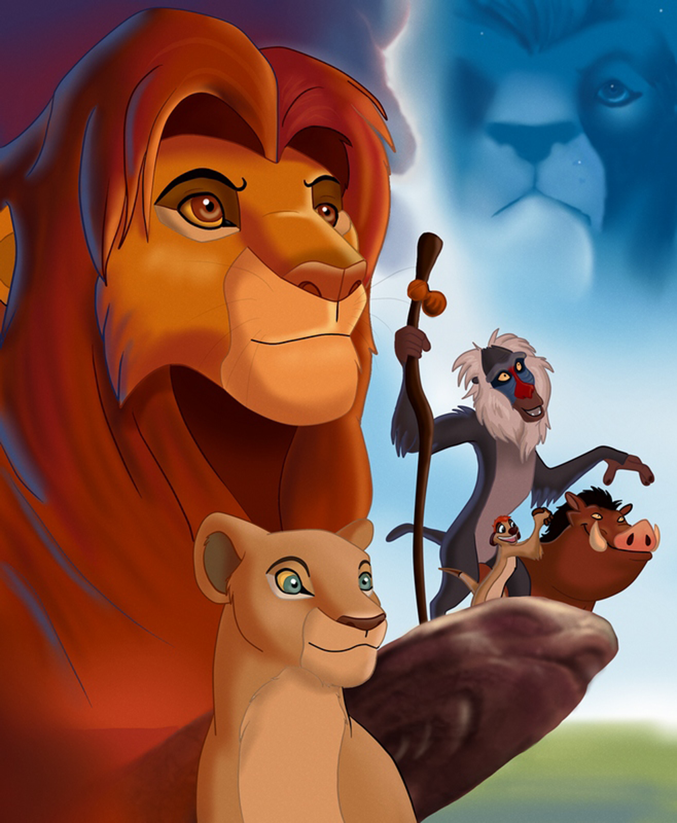 central wallpaper  simba the lion king and other