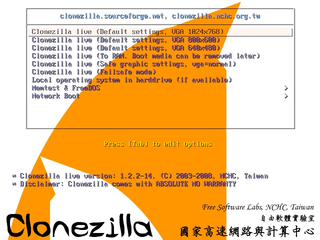 How do I use Clonezilla to clone my Hard Drive - Copy HDD