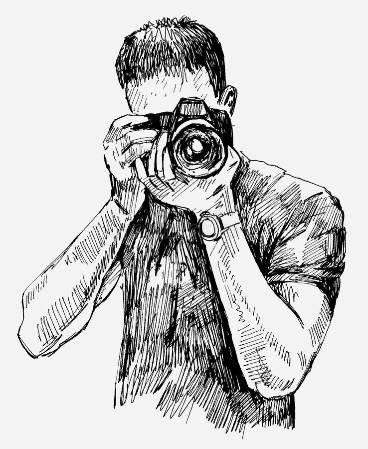 Рисунок фотограф, тему