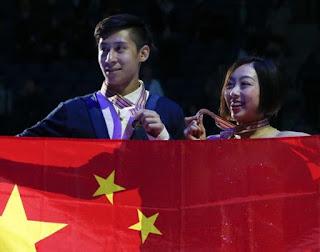 PATINAJE ARTÍSTICO - Mundial por parejas 2017 (Helsinki, Finlandia): Wenjing Sui y Cong Han abren el campeonato