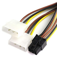 4 Pin Molex - 6 Pin PCIe power cable for MSI graphics card